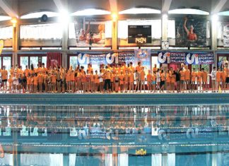 csi varese La domenica del nuoto Gli atleti schierati.