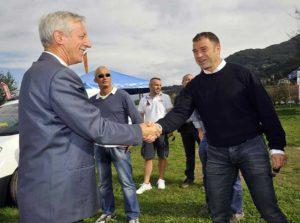 csi varese Il presidente Redento Colletto con l'assessore Antonio Rossi in occasione di un evento a Laveno Mombello