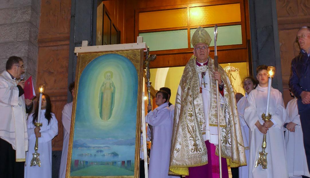 """csi varese Solenne arrivo della """"Madonna dei calciatori"""" a Laveno Mombello in chiesa"""