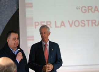 csivarese Il presidente Redento Colletto con quello regionale Paolo Fasani durante l'assemblea dello scorso anno a Venegono
